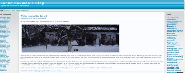 Johan Bouman's weblog