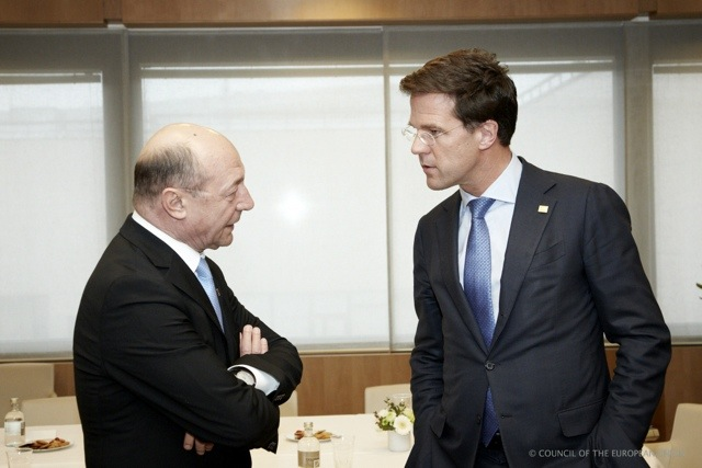 President Basescu en Premier Rutte