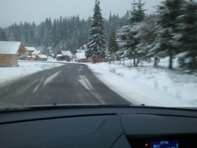 1 oktober sneeuw in Roemenië
