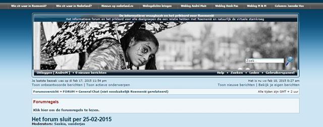 De informatieve vraagbaak en het prikbord voor Roemenië